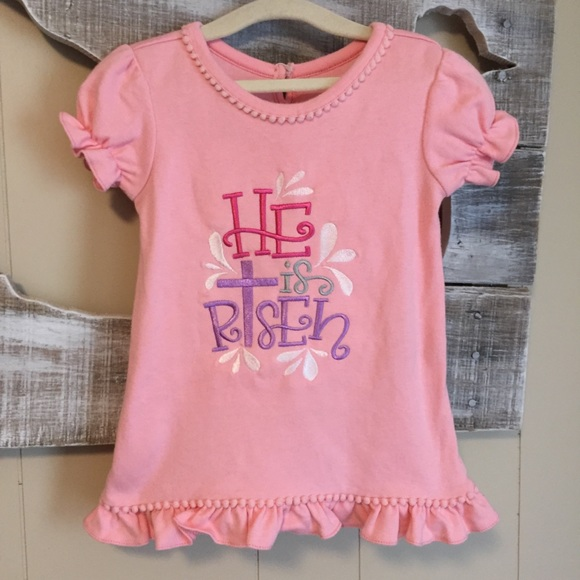 Sassy Kid Blanks Shirts Tops Easter Embroidered He Is Risen Sbk